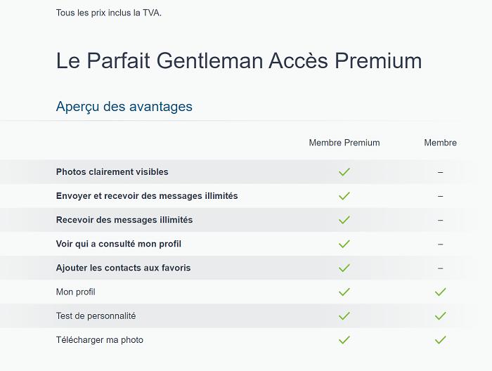 L'accès Premium Le Parfait Gentleman